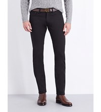 Ralph Lauren Purple Label Slim Fit Tapered Jeans Black Stretch