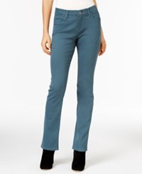 Lee Platinum Petite Nellie Barely Bootcut Jeans Slate Teal