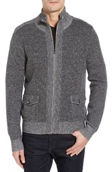 Toscano Men's Wool Blend Zip Cardigan