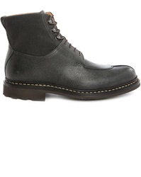 Heschung Gingko Black Dual Fabric Laced Boots