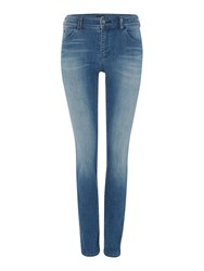 Armani Jeans J20 Lilac High Rise Super Skinny Denim Mid Wash