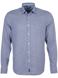 Marc O'polo Long Sleeved Shirt In A Regular Fit Vivid Blue