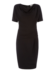 Mary Portas Paula Ponte Twist Side Drape Dress Black
