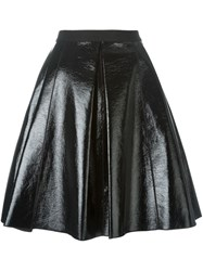 Marc Jacobs Pleather Circle Skirt Black