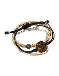 Kenneth Cole Sprinkle Stone Disc Bracelet In A Gift Box Set Of 3 Black