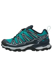 Salomon X Ultra 2 Gtx Walking Shoes Peacock Blue Deep Blue Lucite Green Turquoise