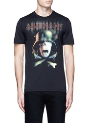 Givenchy Army Skull Print T Shirt Black Multi Colour