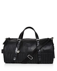 John Varvatos Star Usa Perforated Leather Duffel Bag Black