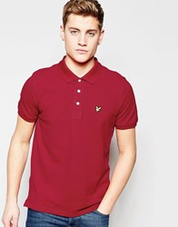 Lyle And Scott Polo Shirt With Eagle Logo In Ruby Ruby Red