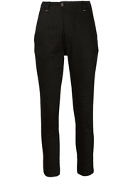 Transit Tapered Trousers Black