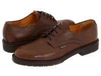 Mephisto Marlon Chestnut Pebble Grain Leather Men's Plain Toe Shoes Brown