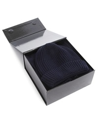 Menlook Label Neal Navy Beanie And Scarf Pack