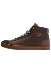 Pantofola D Oro Parma Hightop Trainers Coffee Bean Dark Brown