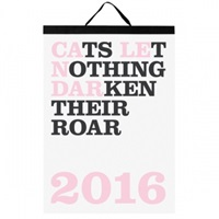 Noa Bembibre Cats Let Nothing Darken Their Roar Calendar 2016 Stationery Decoration Finnish Design Shop