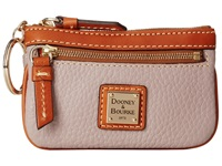 Dooney And Bourke Pebble Small Coin Case Oyster W Tan Trim Coin Purse Gray