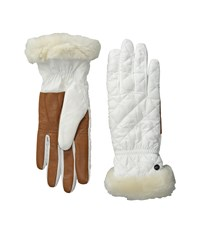 Ugg Slim Fit Quilted Fabric Smart Glove White Multi Extreme Cold Weather Gloves