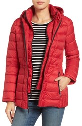 Michael Michael Kors Women's Quilted Down Jacket Red