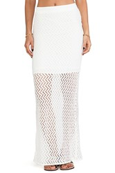 Mm Couture By Miss Me Sheer Panel Maxi Skirt Ivory