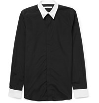 Givenchy Star Embellished Cotton Shirt Black
