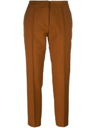 Vanessa Bruno Athe Cropped Trousers Brown