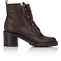 Gianvito Rossi Women's Lug Sole Ankle Boots Dark Brown