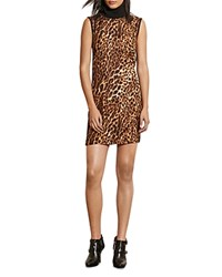 Ralph Lauren Leopard Print Turtleneck Dress Black