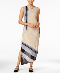Rachel Roy Printed Draped Back Dress Only At Macy's Driftwood Combo