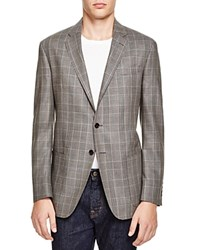 Todd Snyder Silk Wool Plaid Slim Fit Sport Coat Natural