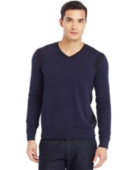 Kenneth Cole Reaction V Neck Sweater Sapphire