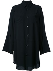 G.V.G.V. 'Georgette' Slashed Cuff Shirt Black