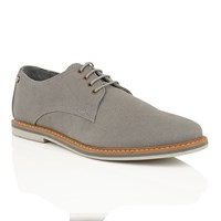 Frank Wright Telford Mens Lace Up Shoes Grey
