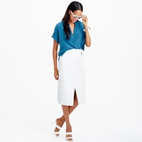J.Crew Collection Leather Wrap Skirt