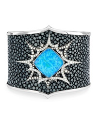 Murder She Wrote Opalescent Quartz Stingray Cuff Stephen Webster