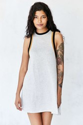 Silence And Noise Tri Color Sleeveless Ringer T Shirt Dress Grey Multi