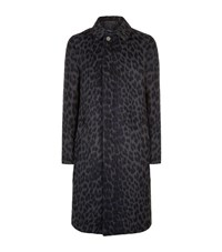 3.1 Phillip Lim Leopard Balmacaan Coat Male Grey