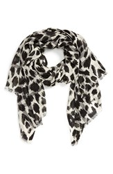 Burberry Women's Animal Print Mulberry Silk And Wool Scarf