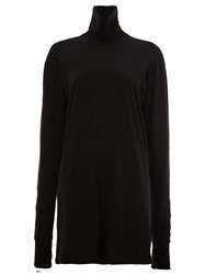11 By Boris Bidjan Saberi Long Fit Turtleneck Jersey Black