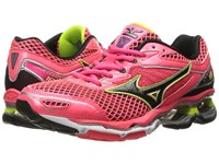 Mizuno Wave Creation 18 Diva Pink Black Safety Yellow Women's Running Shoes