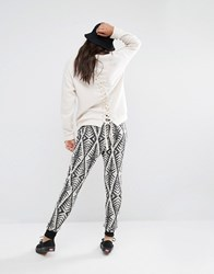 Billabong Joggers With Drawstring Waist In Abstract Design Multi