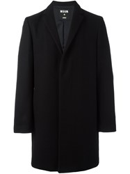 Msgm 'Piero' Overcoat Black