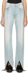 Off White Blue Bleached Jeans