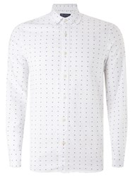 John Lewis And Co. Organic Cotton Fil Coupe Shirt White