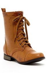 Charles Albert Lace Up Zip Boot Brown