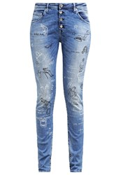 Replay Pilar Slim Fit Jeans Tattoo Denim Blue Denim