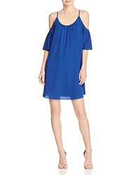 French Connection Polly Plains Cold Shoulder Dress Indian Ocean