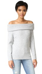 Minkpink Sunder Off Shoulder Sweater Grey Marle
