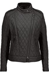 Belstaff Longston Quilted Shell Biker Jacket Black