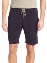 Saks Fifth Avenue French Terry Drawstring Shorts Navy
