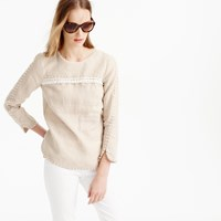 J.Crew Tall Embroidered Linen Top