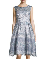 Kay Unger New York Sleeveless Floral Lace Cocktail Dress Multi